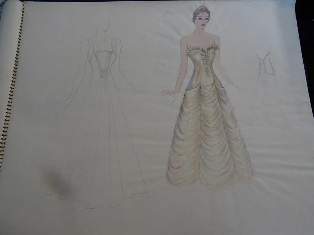 ATTRIBUTED TO DAME MARY QUANT (BORN 1930), STUDENT'S SKETCHBOOK OF FASHION STUDIES - Image 9 of 22