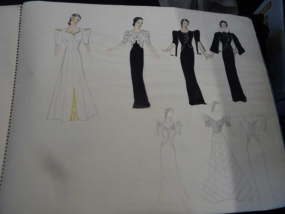 ATTRIBUTED TO DAME MARY QUANT (BORN 1930), STUDENT'S SKETCHBOOK OF FASHION STUDIES - Image 22 of 22