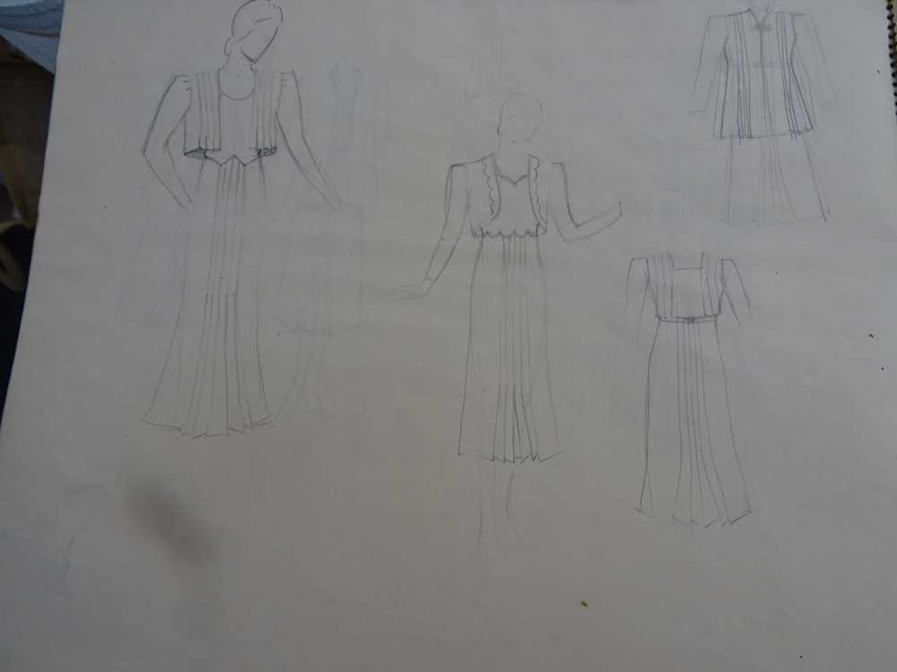 ATTRIBUTED TO DAME MARY QUANT (BORN 1930), STUDENT'S SKETCHBOOK OF FASHION STUDIES - Image 19 of 22