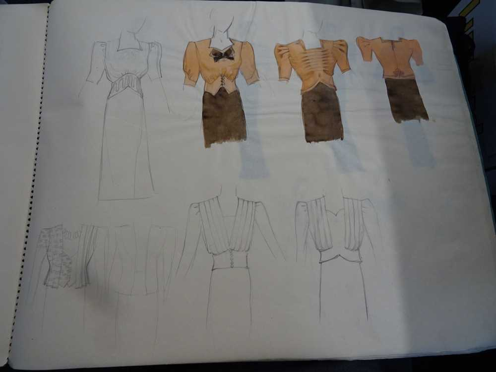 ATTRIBUTED TO DAME MARY QUANT (BORN 1930), STUDENT'S SKETCHBOOK OF FASHION STUDIES - Image 8 of 22