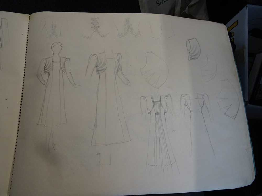ATTRIBUTED TO DAME MARY QUANT (BORN 1930), STUDENT'S SKETCHBOOK OF FASHION STUDIES - Image 20 of 22