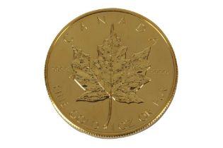 CANADA, ELIZABETH II, 50 DOLLARS, MAPLE LEAF, 1986, FINE GOLD, 1oz