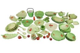 A COLLECTION OF CARLTONWARE LEAF FORM POTTERY WARES, 20TH CENTURY