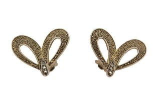 A PAIR OF EARCLIPS, POSSIBLY BY THEODOR FAHRNER