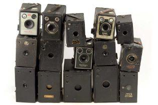 Group of 15 Box Cameras, inc Uncommon Gap Model.