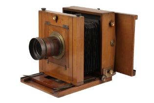 A Whole Plate Wooden Studio Camera