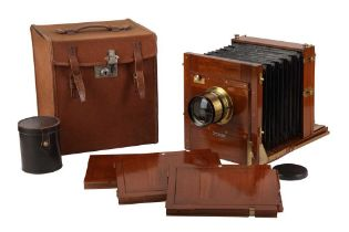 A Large Whole Plate Gandolfi Tailboard Camera