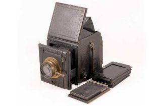 Butcher's Popular Pressman Plate Camera with Ross Lens.