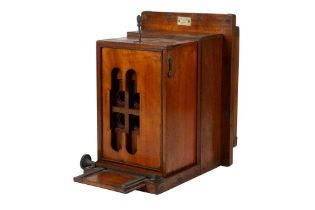 An Important Mahogany & Brass Carte Des Visite Studio Camera