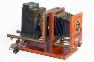 An Interesting Half Plate Horizontal Enlarger by Ross.