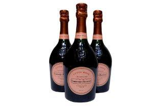 Laurent Perrier Rosé NV 3 Bottles of Laurent Perrier Rosé NV