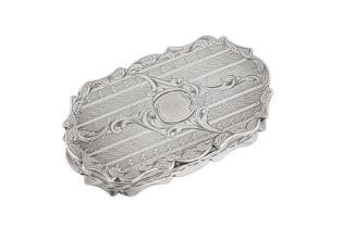 A Victorian sterling silver snuff box, Birmingham 1847 by Francis Crump
