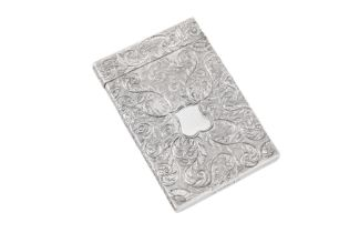 A William IV sterling silver card case, Birmingham 1831 by Taylor and Perry