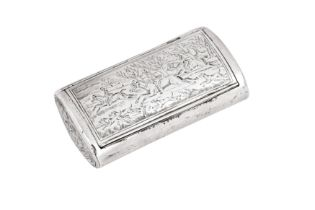 A George III sterling silver snuff box, London 1803 by William Edwards