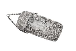 A Victorian sterling silver cheroot case Birmingham 1848 by William Dudley