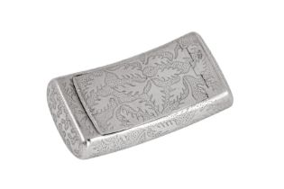 A George III sterling silver snuff box, Birmingham 1807 by Samuel Pemberton