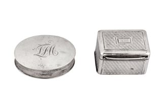 A George IV sterling silver nutmeg grater, London 1827 by Charles Rawlings