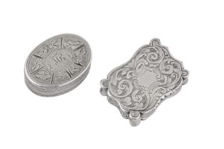 A Victorian sterling silver vinaigrette, Birmingham 1845 by William and Edward Turnpenny