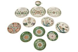 A COLLECTION OF FOUR CHINESE PROVINCIAL PORCELAIN PLATES, 19TH CENTURY