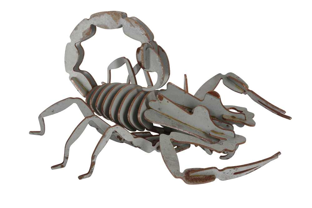 A SEGMENTED METAL MODEL OF A SCORPION - Image 2 of 2