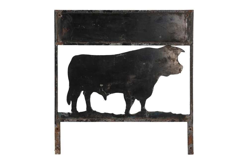 AN EARLY 20TH CENTURY PAINTED METAL SHOP SIGN - Image 2 of 2