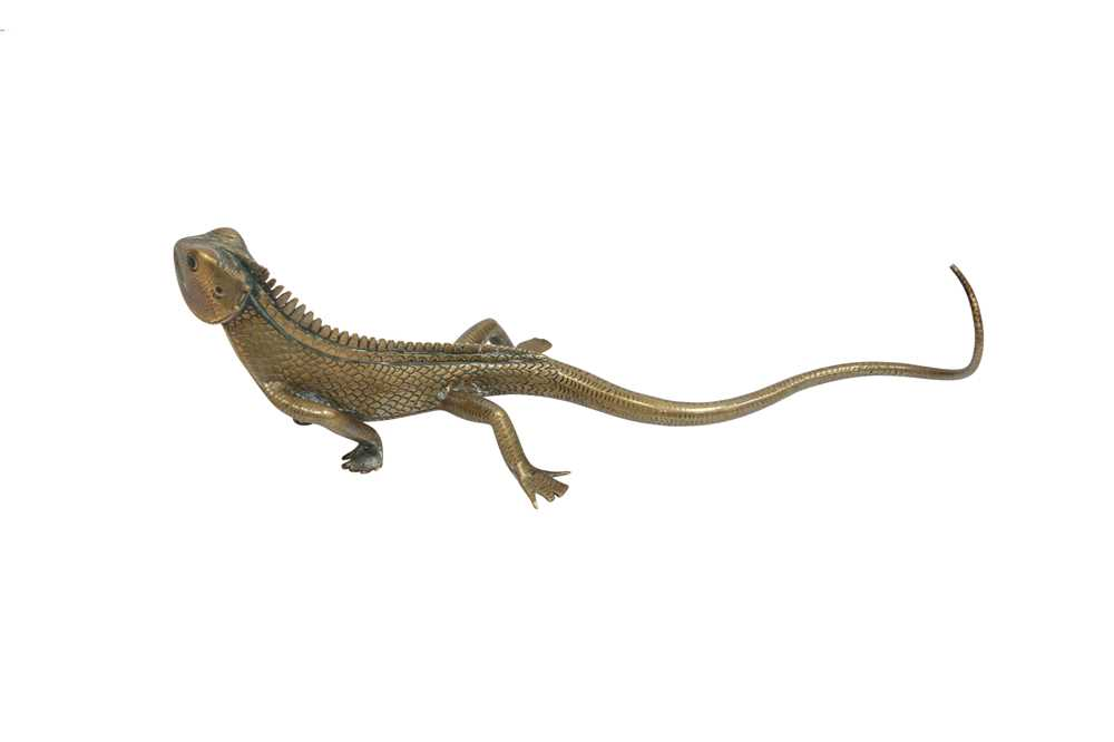 A CEYLONESE BRASS LIZARD, EARLY 20TH CENTURY - Image 2 of 2