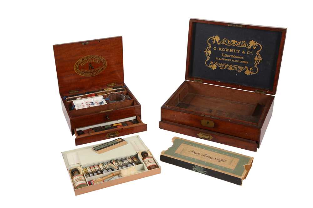TWO LATE 19TH CENTURY ENGLISH PAINTER'S BOXES