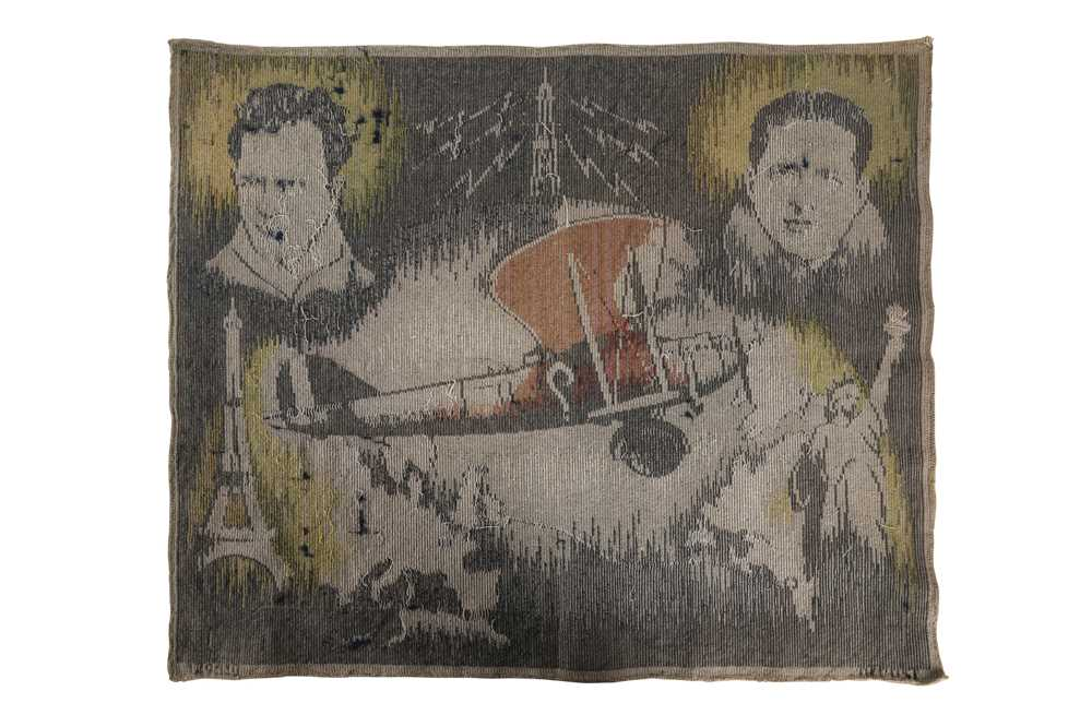 A 1930'S BELGIAN TEXTILE COMMEMORATING COSTE AND BELLONTE'S 1930 RECORD BREAKING FLIGHT - Image 2 of 2