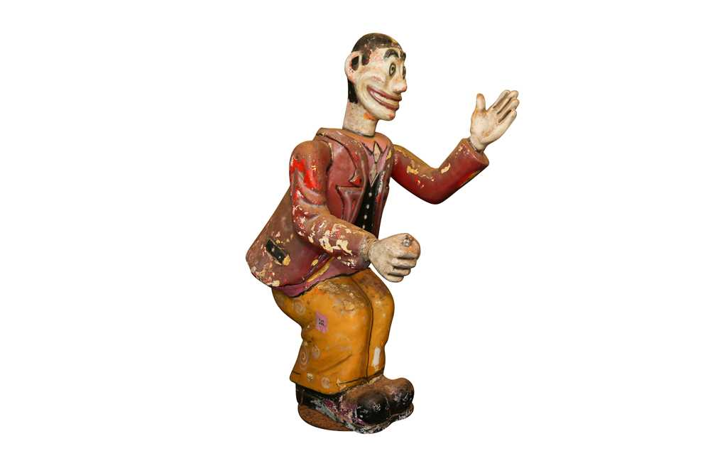 A LARGE ORIGINAL PAINTED FAIRGROUND FIGURE FROM THE PARACHUTE RIDE