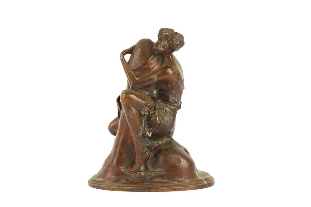 AFTER BRUNO ZACH (1891-1935): A 20TH CENTUY EROTIC BRONZE OF A WOMAN HUGGING A PHALLUS 'THE EMBRACE' - Image 2 of 4