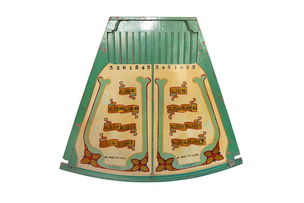 A PAINTED WOOD FAIRGROUND GAMING BOARD