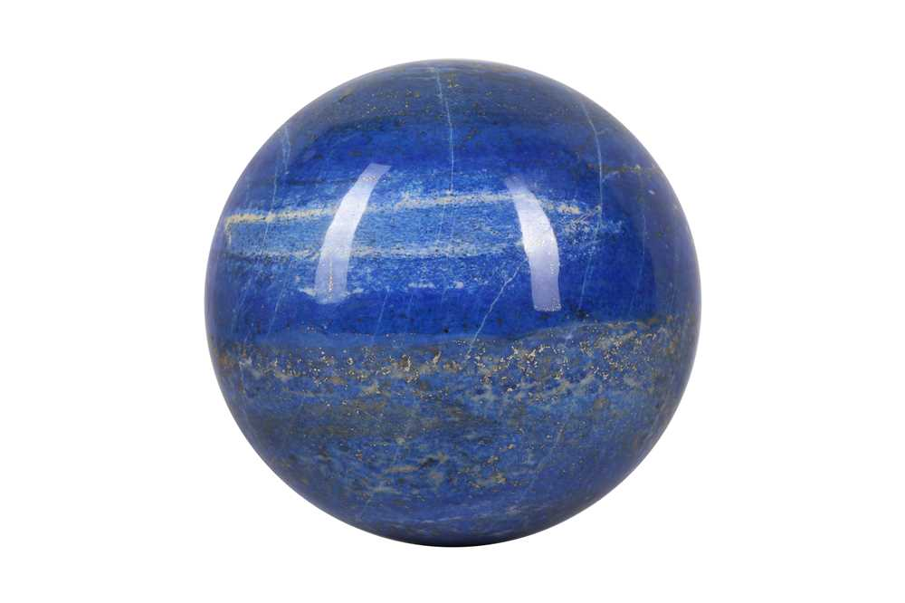 A LARGE SOLID LAPIS LAZULI SPHERE