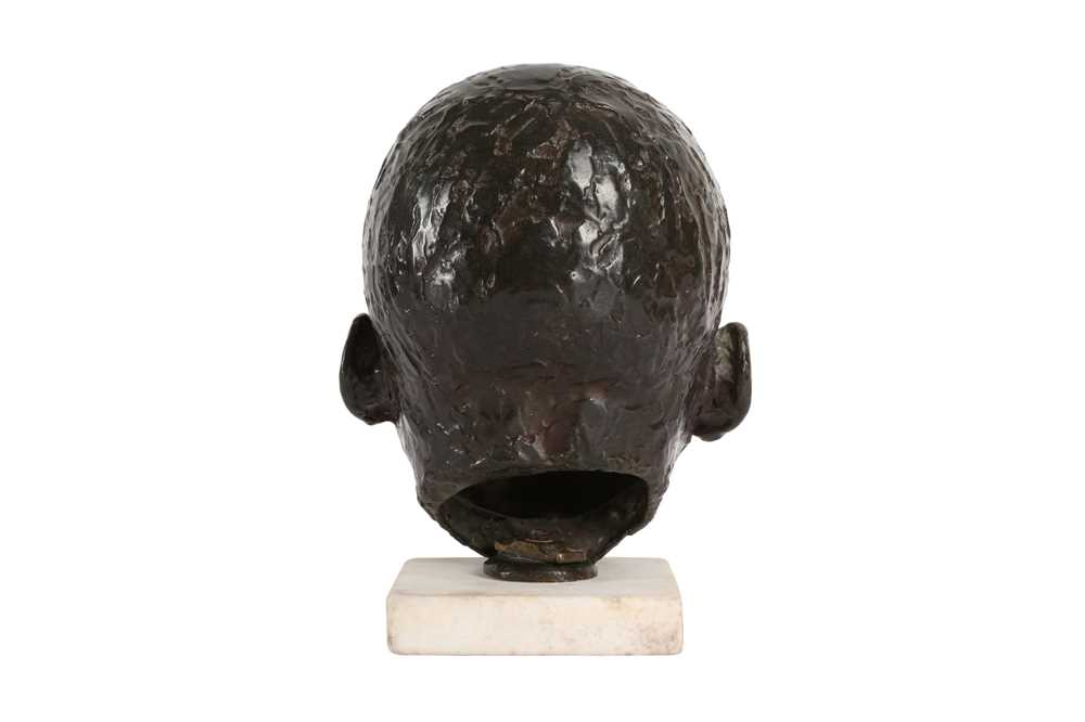 A BRONZE HEAD OF A BABY IN THE MANNER OF SIR JACOB EPSTEIN (BRITISH, 1880-1959) - Image 2 of 4