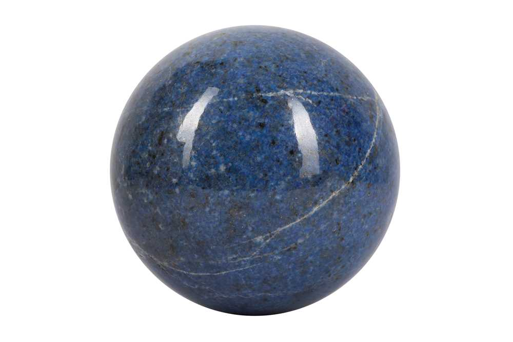 A SOLID 'BLUE JEAN' LAPIS LAZULI SPHERE - Image 2 of 3