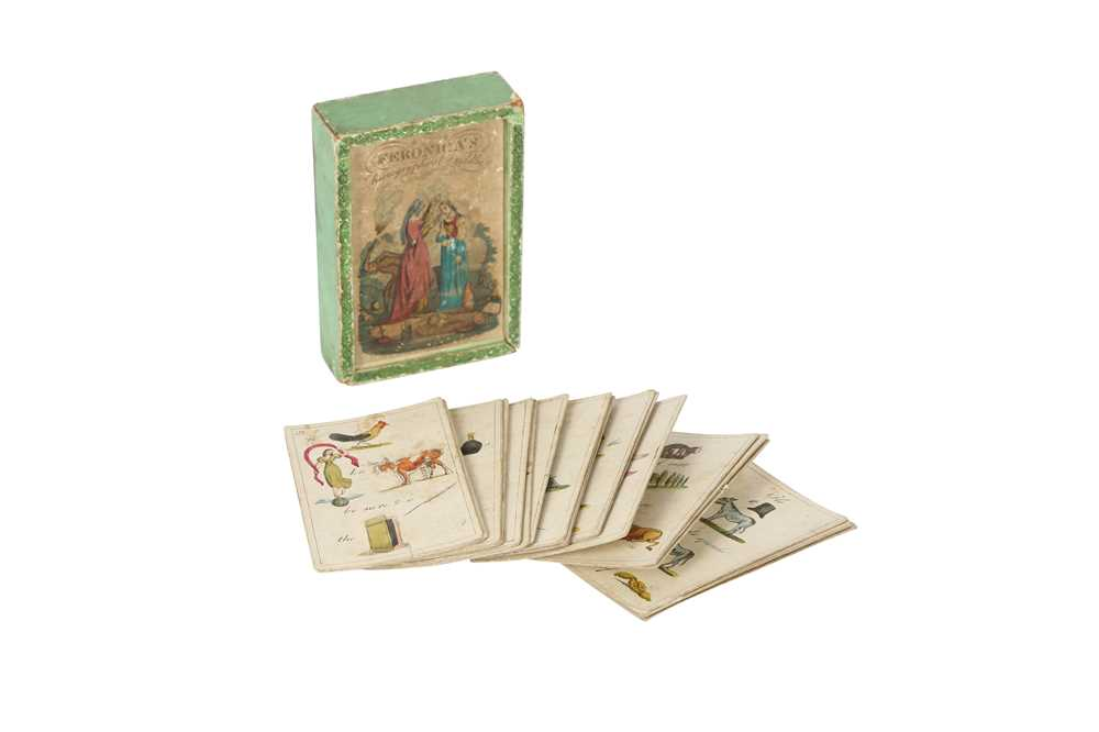 A RARE COMPLETE SET OF GEORGIAN HIEROGRYPHICAL RIDDLE CARDS CIRCA 1800 FERONICA'S HIEROGRYPHICAL RID - Image 3 of 6