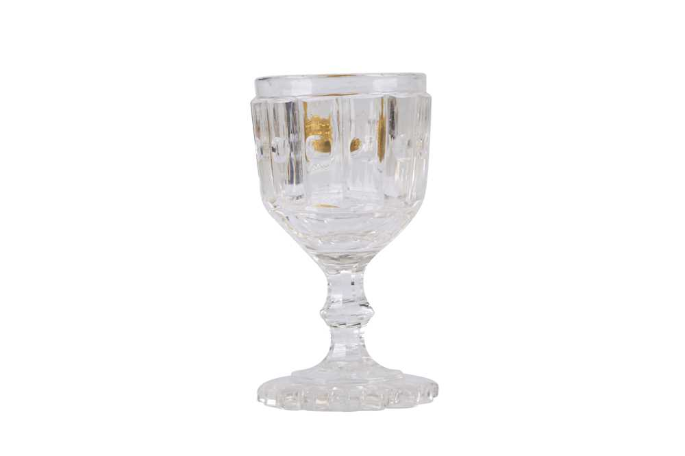 DESSERT WINE GLASS FROM THE PERSONAL TABLE SERVICE OF CZAR ALEXANDER I - Image 2 of 5