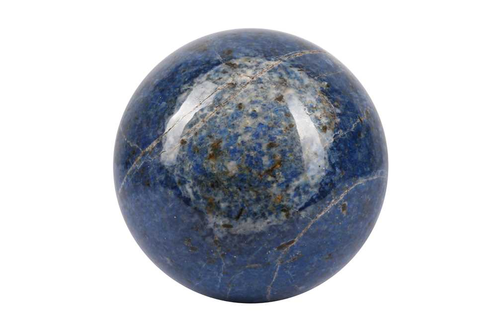 A SOLID 'BLUE JEAN' LAPIS LAZULI SPHERE - Image 3 of 3