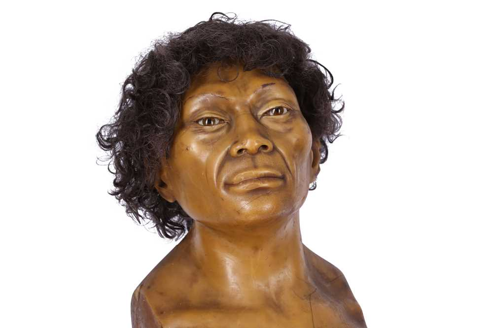 A LATE 19TH / EARLY 20TH CENTURY WAX HEAD OF A NEANDERTHAL MAN - Image 3 of 5