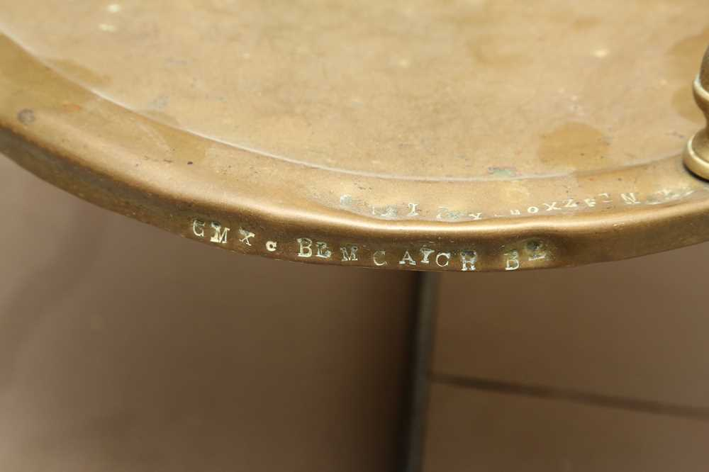 A MASSIVE SET OF LATE 19TH CENTURY ENGLISH FLOOR STANDING BRASS WEIGHING SCALES - Image 5 of 7