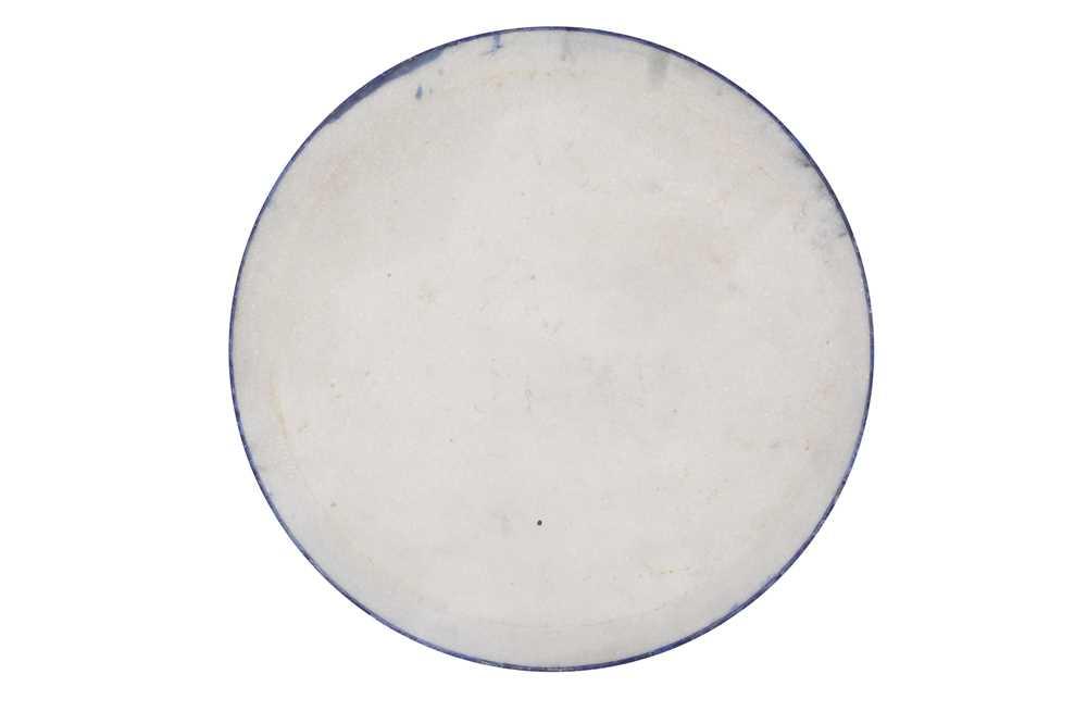 A LAPIS LAZULI VENEERED CIRCULAR DISH - Image 2 of 3