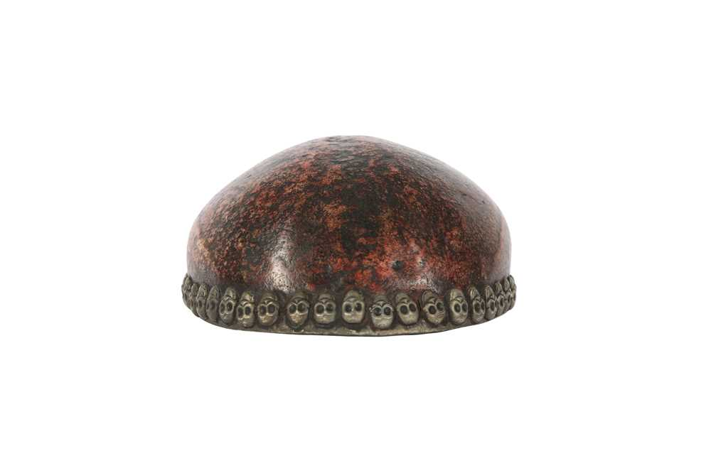 A RESIN MODEL OF A TIBETAN KAPALA HUMAN SKULL CAP - Image 4 of 6