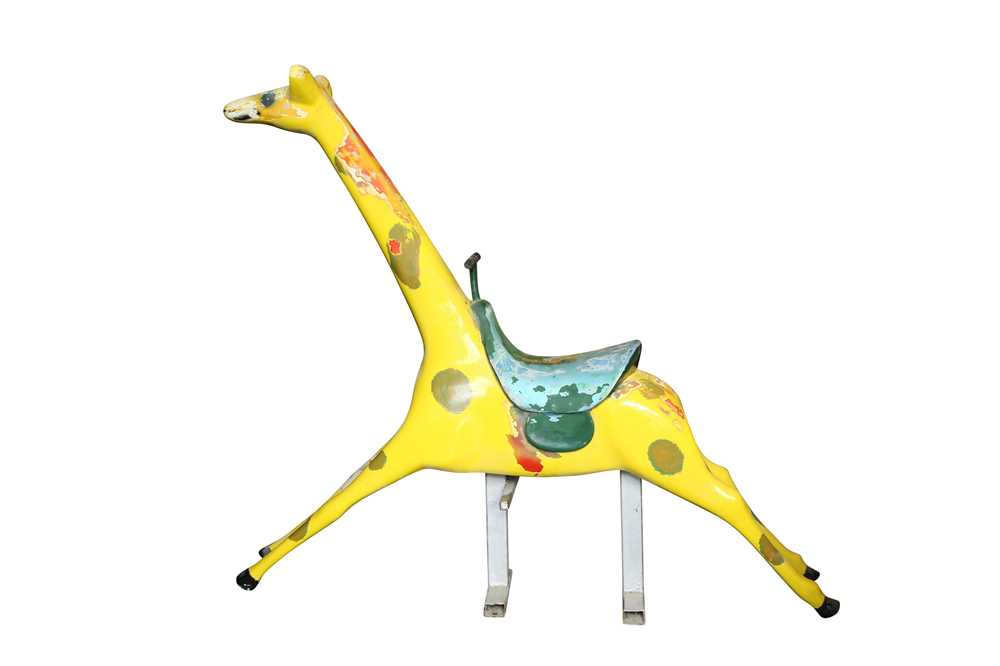 A PAINTED FIBREGLASS FAIRGROUND MODEL OF A GIRAFFE, PROBABLY 1960'S - Image 2 of 3