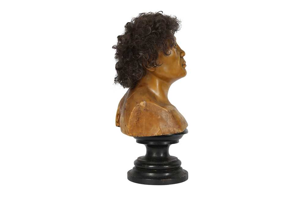 A LATE 19TH / EARLY 20TH CENTURY WAX HEAD OF A NEANDERTHAL MAN - Image 5 of 5