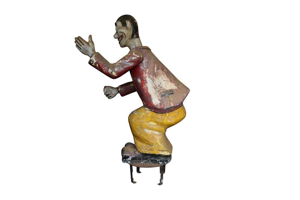 A LARGE ORIGINAL PAINTED FAIRGROUND FIGURE FROM THE PARACHUTE RIDE - Image 3 of 5