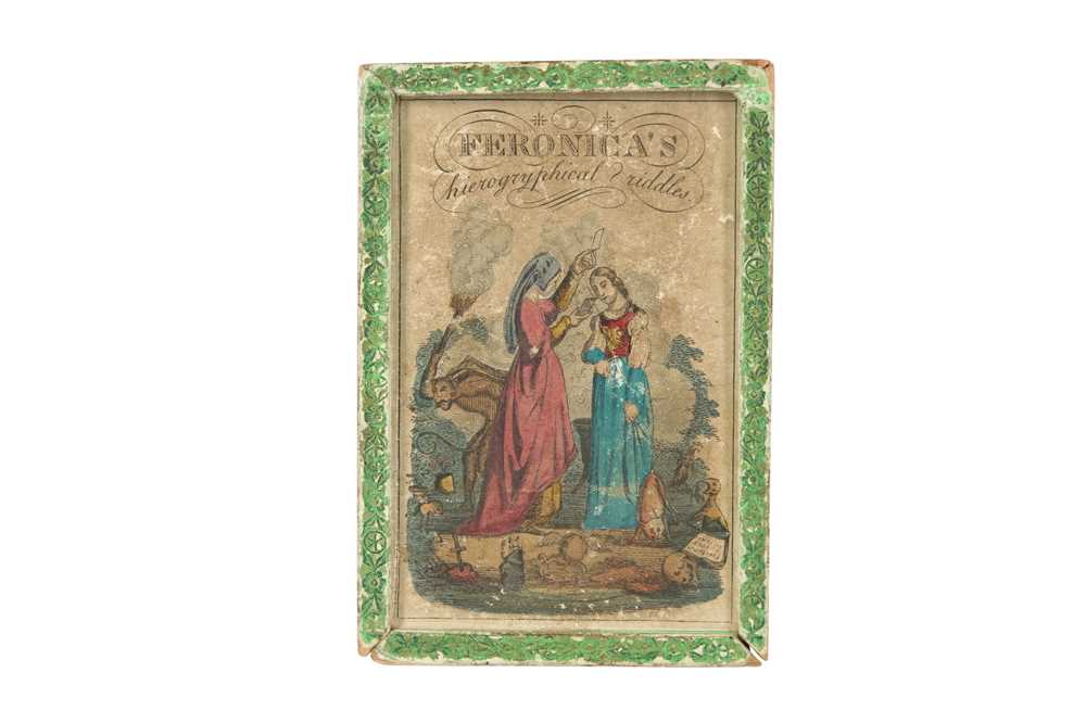 A RARE COMPLETE SET OF GEORGIAN HIEROGRYPHICAL RIDDLE CARDS CIRCA 1800 FERONICA'S HIEROGRYPHICAL RID - Image 2 of 6