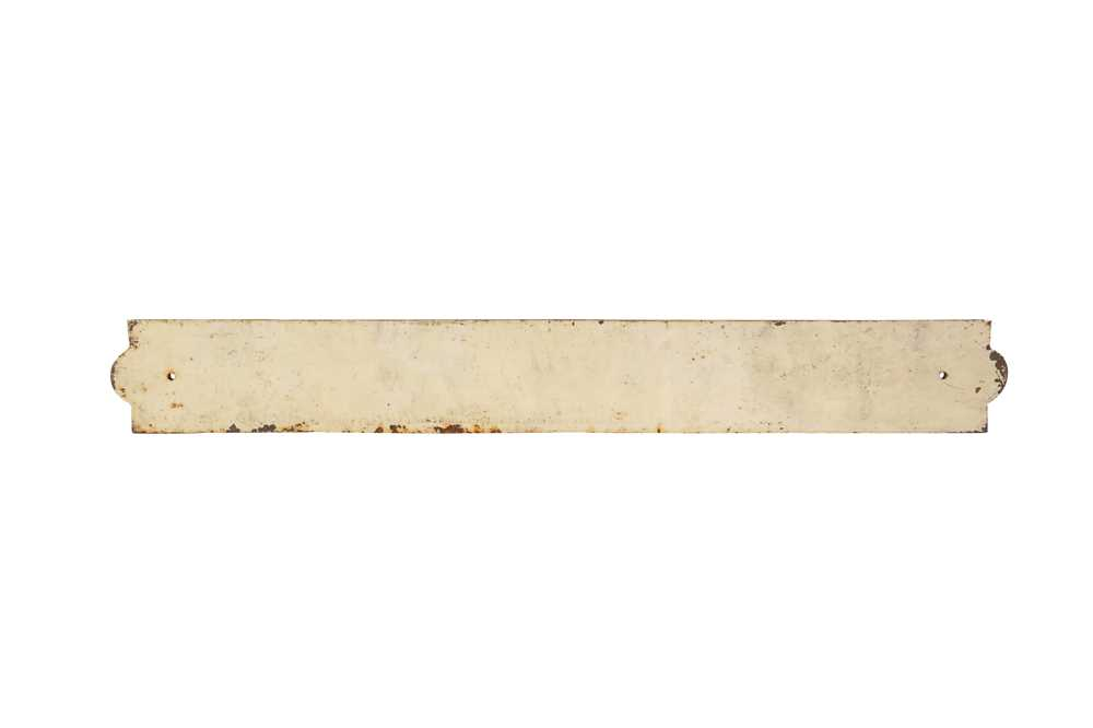 A LATE 19TH CENTURY PAINTED IRON STREET SIGN 'ALBERT SQUARE' - Image 2 of 2