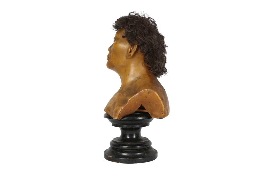 A LATE 19TH / EARLY 20TH CENTURY WAX HEAD OF A NEANDERTHAL MAN - Image 2 of 5