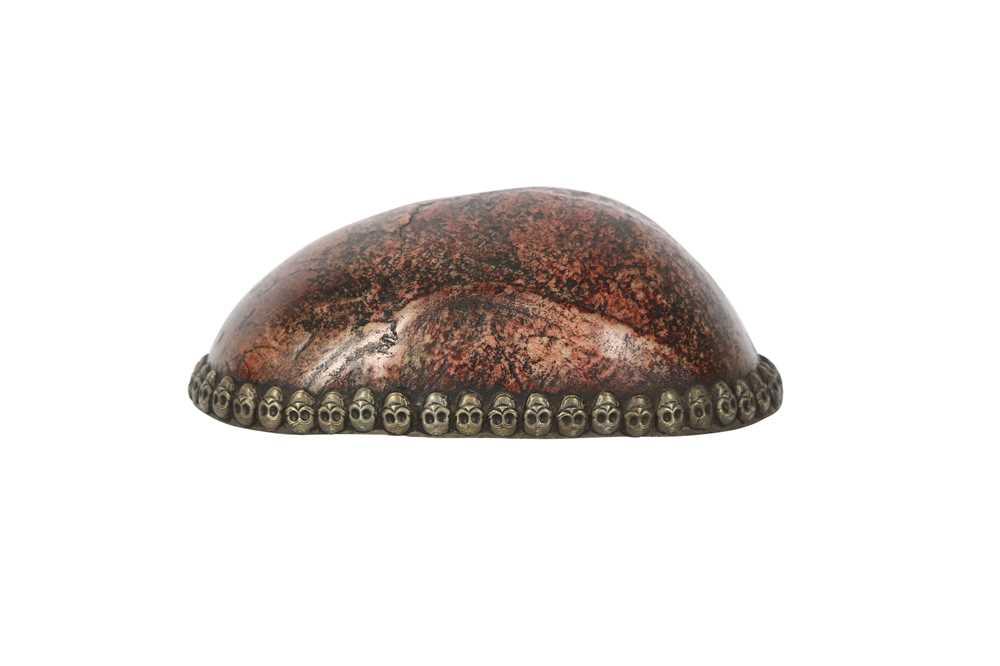 A RESIN MODEL OF A TIBETAN KAPALA HUMAN SKULL CAP - Image 5 of 6