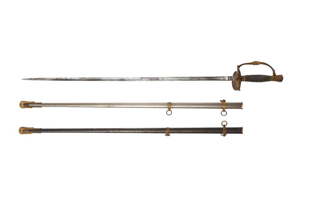 AN AMERICAN CIVIL WAR UNION OFFICER'S SWORD WITH SPARE SCABBARD CIRCA 1860