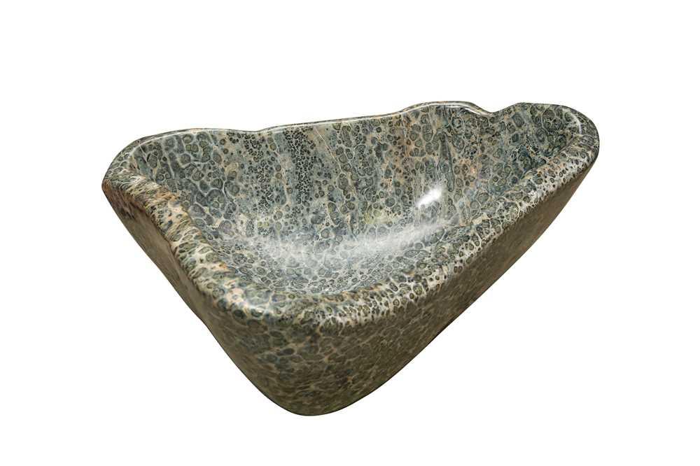 A LARGE KAMBABA JASPER BOWL, MADAGASCAR, 400 MILLION YEARS OLD